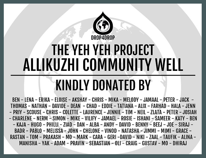 The Yeh Yeh Project - Allikuzhi Well Cer