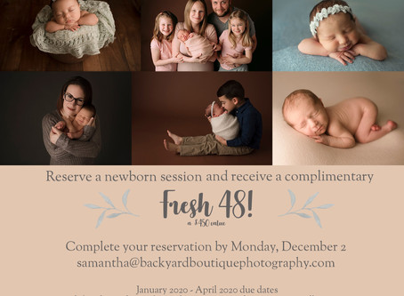 Limited Time Offer! Get Complimentary Fresh 48 Session With Newborn Portraits