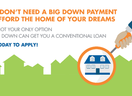 FHA loans are not the only low down payment options anymore!