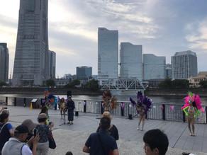 8/24 横浜北仲キャナルパーク盆踊り サンバ盆踊り現る!