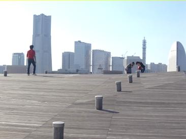 大桟橋の床板