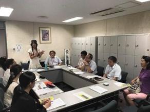 横浜市国際局・港湾局と話し合いました