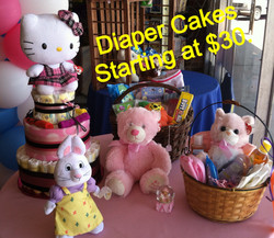 We can make diaper cakes