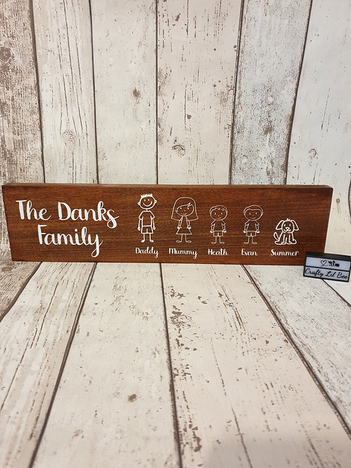 Stick Family Wooden Sign