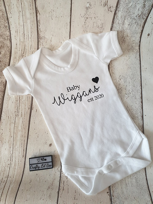 New Baby Personalised Vests