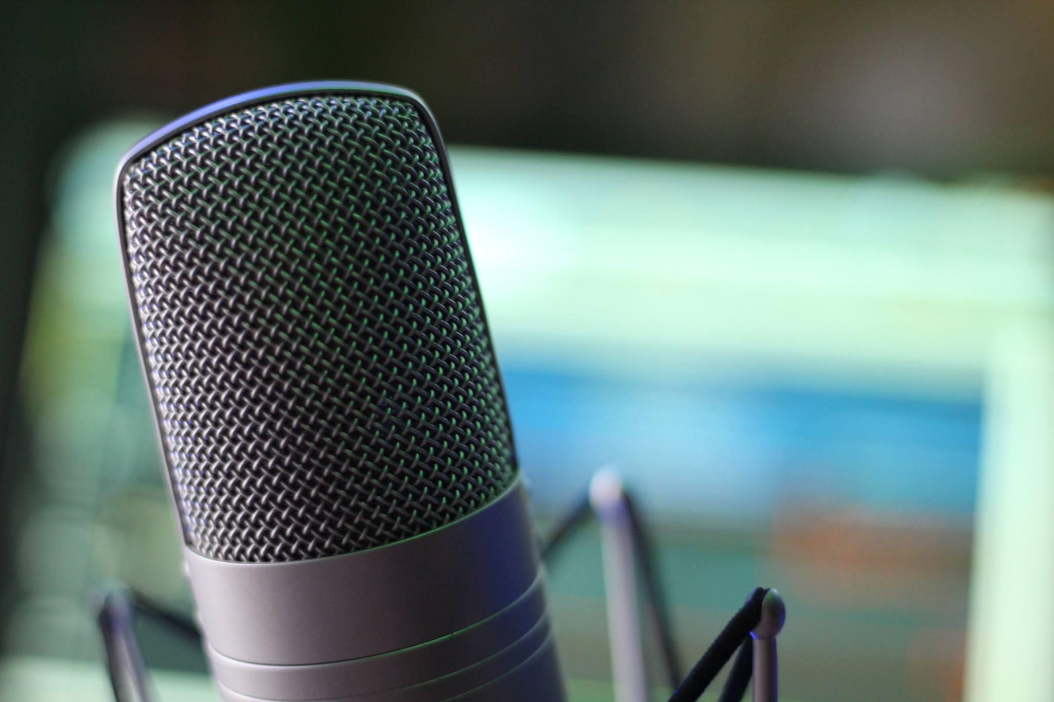 Microfone gravaçao