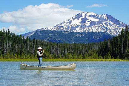 Fisherman on Hosmer Lake