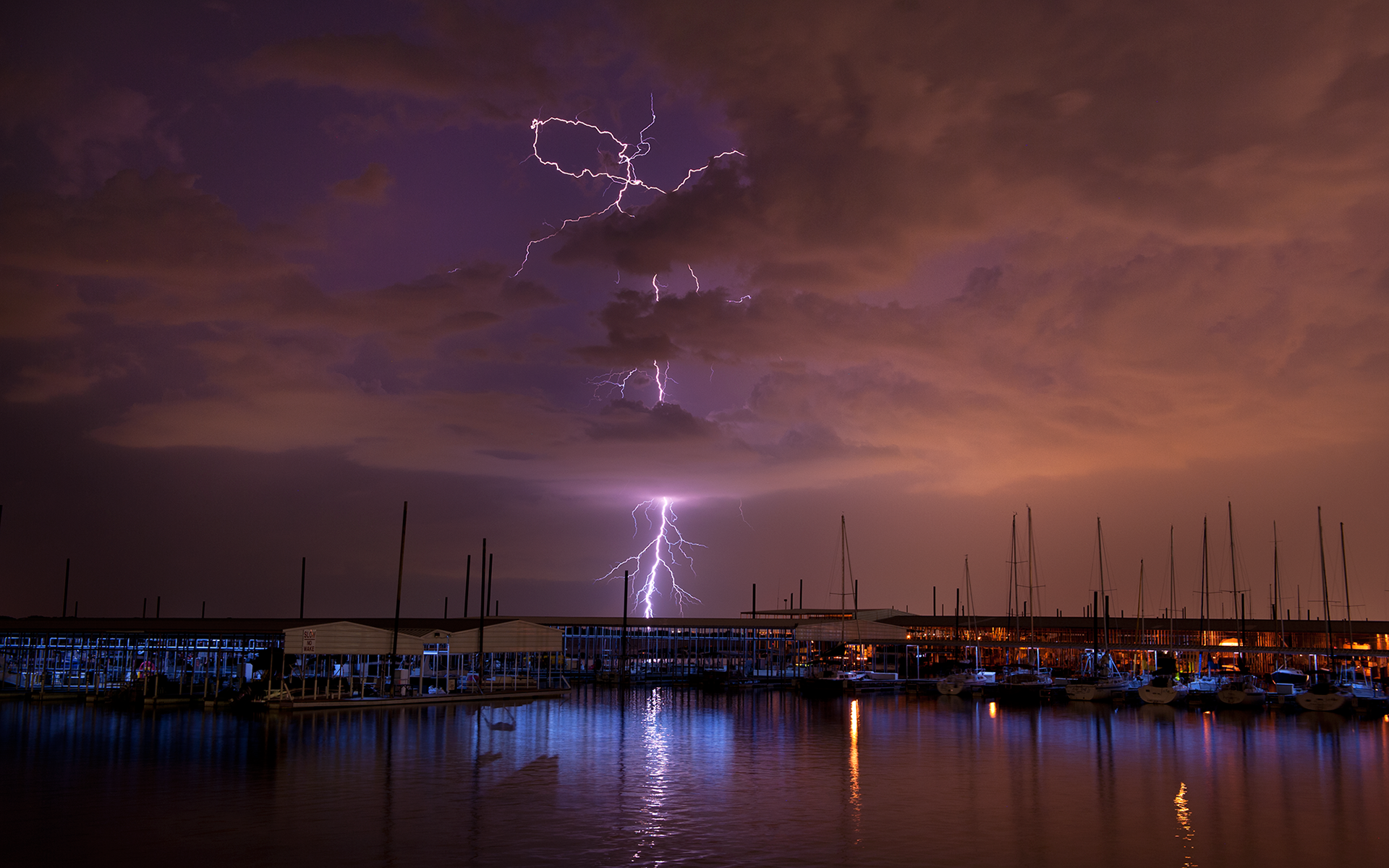 Lightning And Paddlers