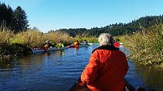 Paddlers on Beaver Creek