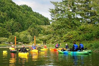 Kayakers on Siletz Bay NWR