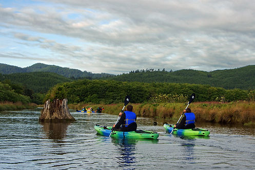 Kayakers in the Siletz Bay NWR
