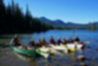 Paddlers on Waldo Lake