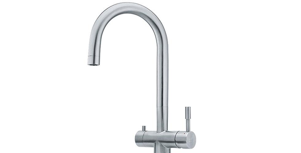 Grifo 3 Vias mezclador + agua filtrada; EOS clear spout 2HM 3-vias FRANKE