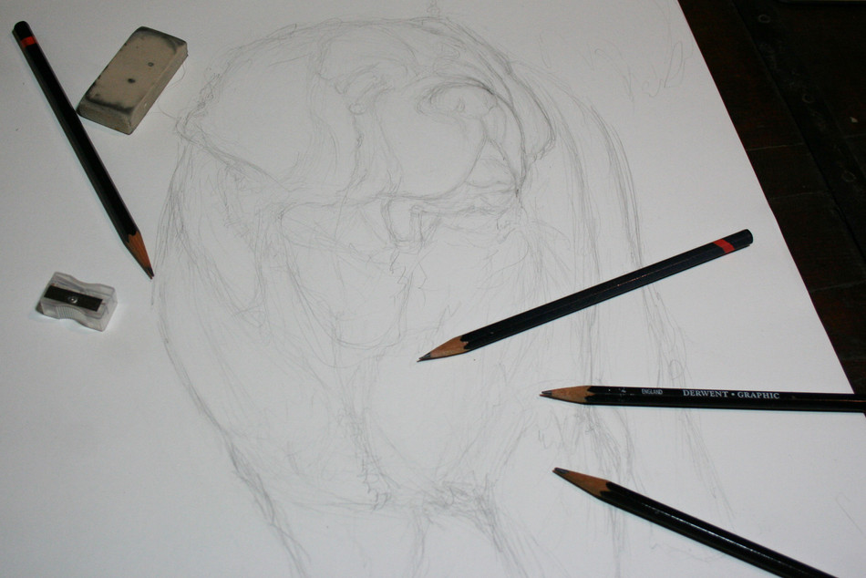 Iterative sketching (or, how to overcome a mental block)