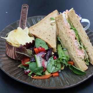 Bloody Mary Prawns & Rocket Sandwich
