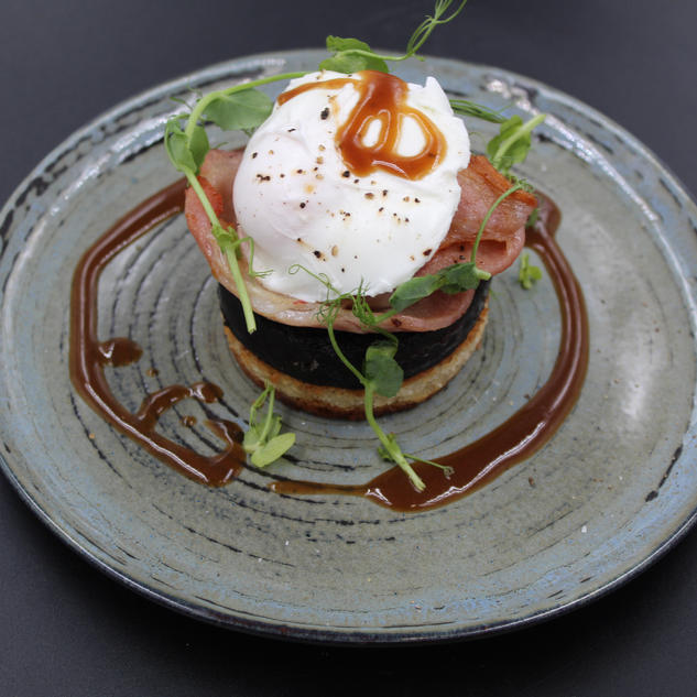 Grilled Butcher's Black Pudding Stack