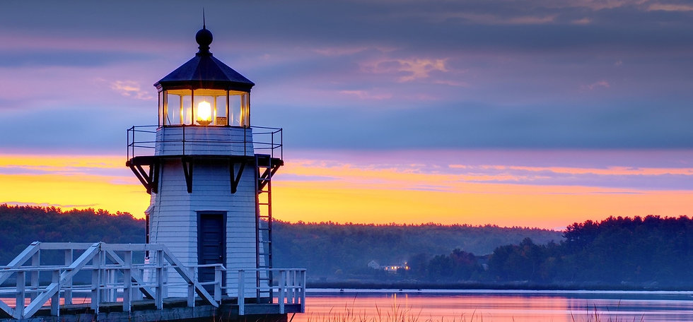 Lighthouse Beacon overlooking lake home