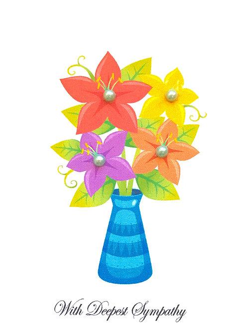 Sympathy Floral Vase - 830