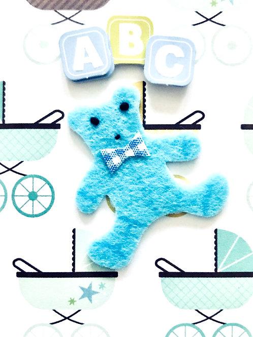 Baby Boy Bear Gift Card - 117B/2