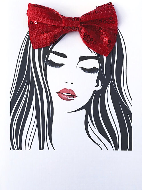 Blank Woman with Bow Greeting Card -1406