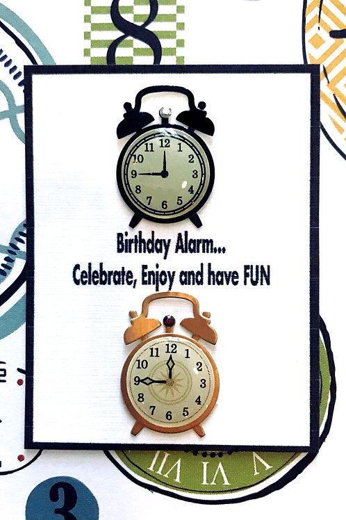 Birthday Alarm Gift Card - 155A/5