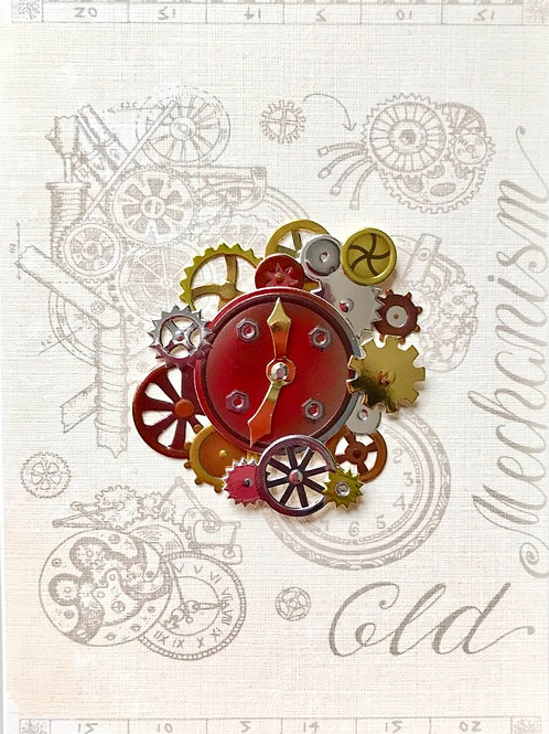Steampunk Clockworks Note Cards - NC139