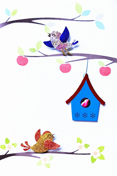 Bird Houses Note Cards - NC140