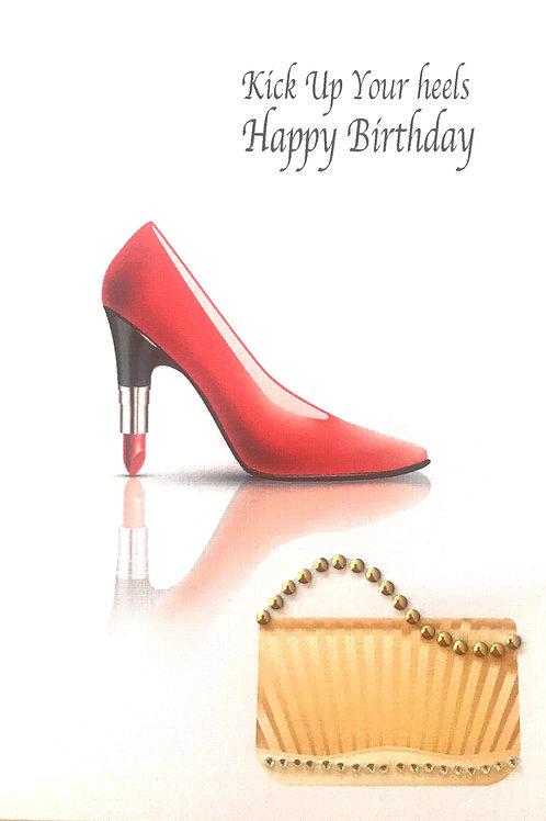 Birthday Lipstick Shoe Note Card Set - NC114