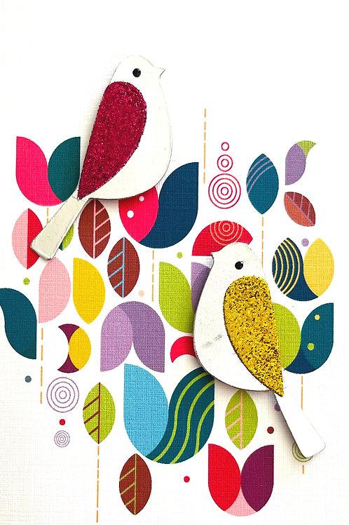 Glitter Bird Note Card Set - NC181