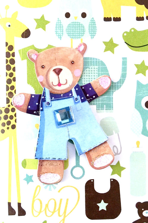 Baby Boy Bear Note Cards - NC33