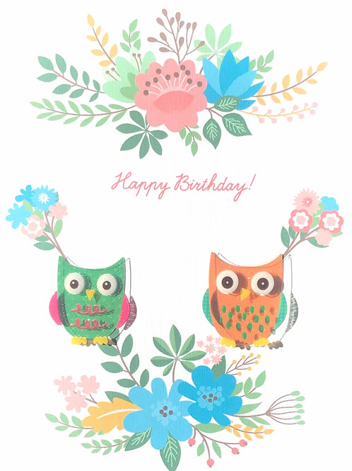 Birthday Owls - 1377