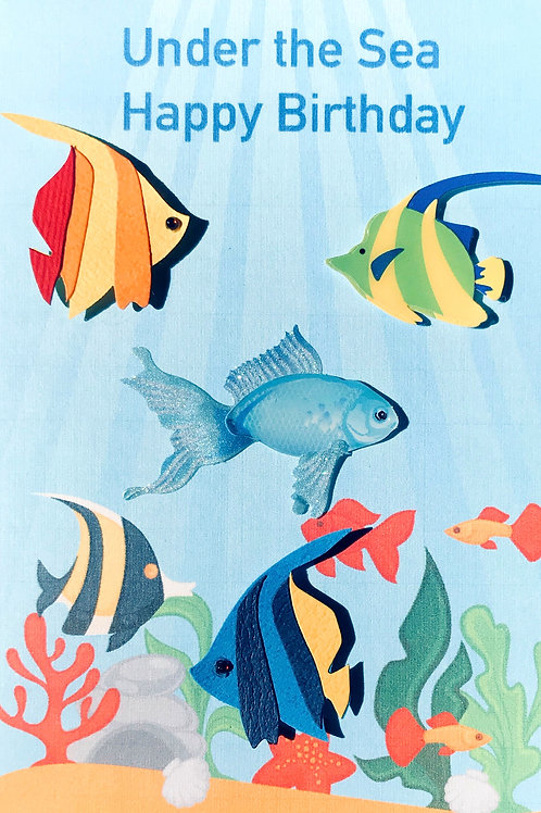 Birthday Under the Sea Note Cards - NC121
