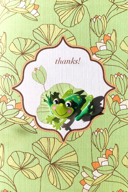 Thanks Frog Note Card Set - NC14
