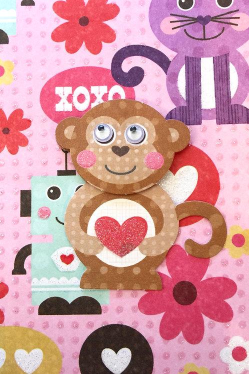 Girl Monkey Gift Card 122A/26