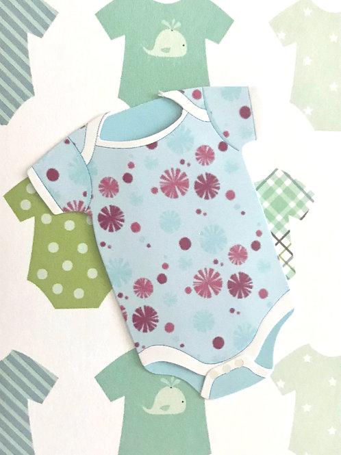 Baby Boy Onesie Gift Card 117B-10