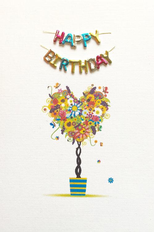 Birthday Heart Tree Note Card Set-NC62
