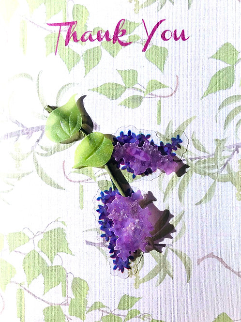 Thank You Lavender Note Cards - NC157
