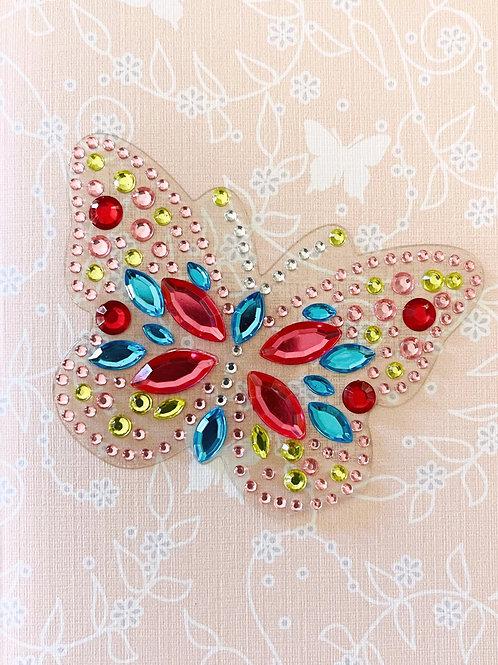 Rhinestone Butterfly Note Card Set - NC195