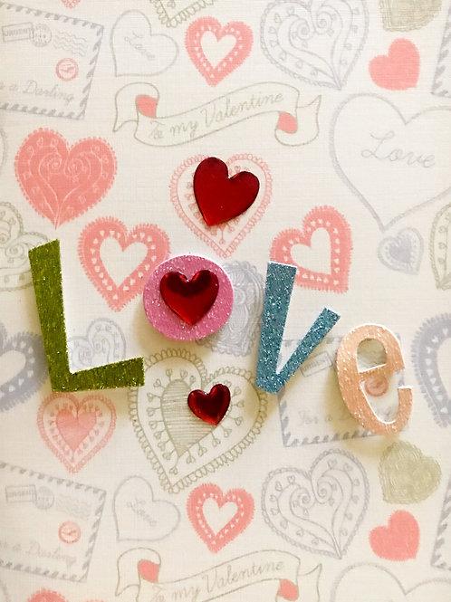 Valentine Heart Love Greeting Card - 1449