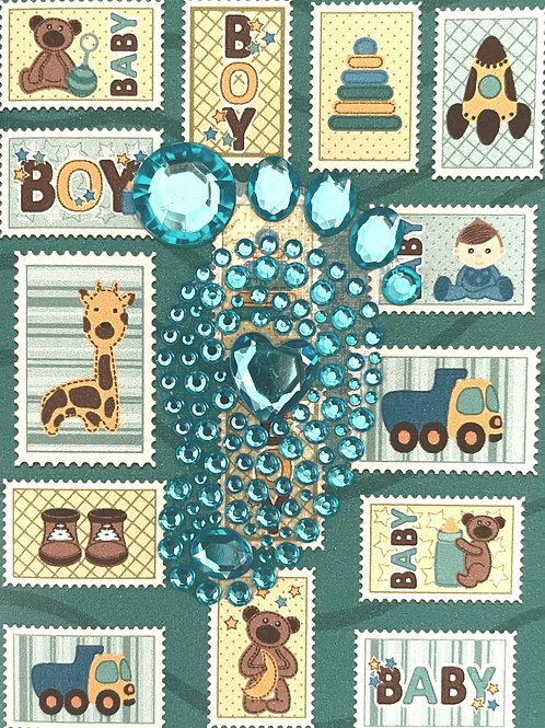 Baby Boy Foot  Note Card Set- NC159