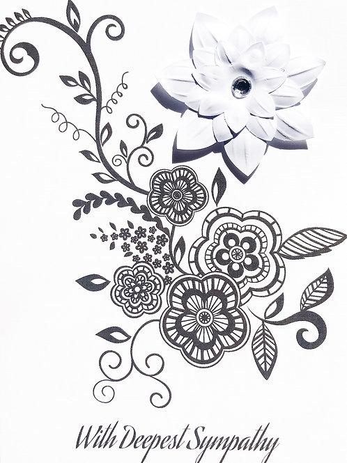 Sympathy White Flower - 1424