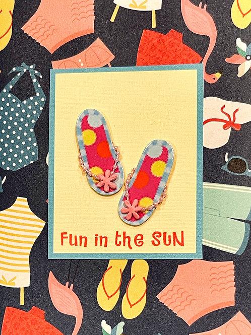 Fun In The Sun Flip Flops Note Card Set - NC193