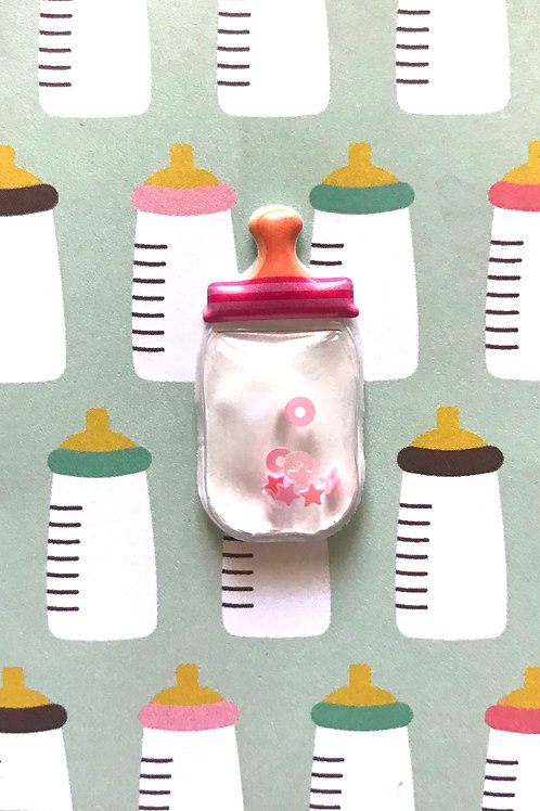 Baby Girl Bottle Gift Card 117G/21