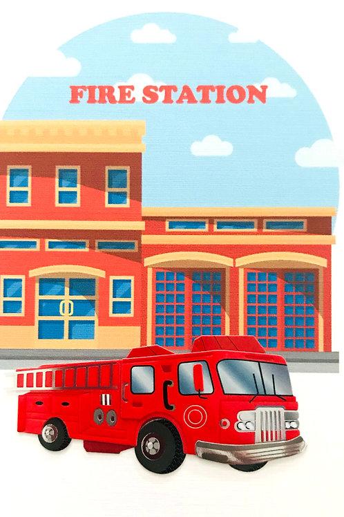 Fire Engine Note Card Set - NC167