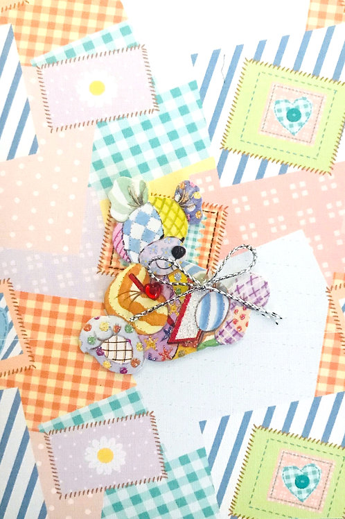 Baby Calico Bear Note Cards - NC30