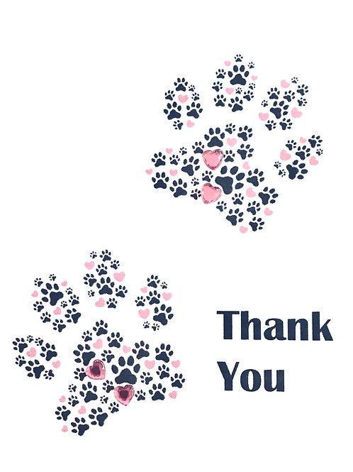 Thank You Paw Prints - A107