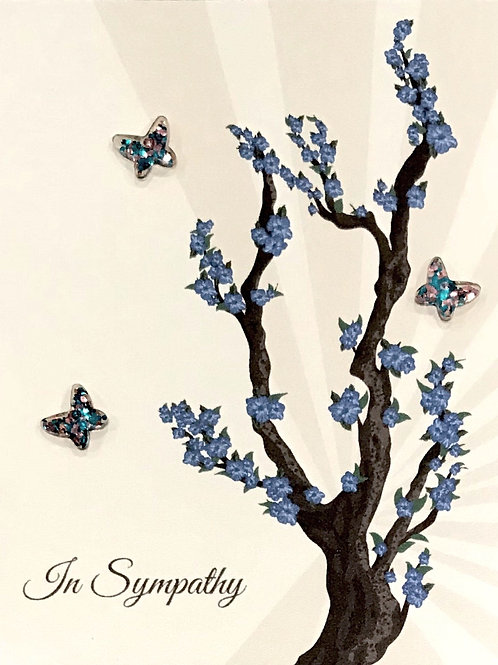 Sympathy Lapis Tree with Butterflies Sympathy - 1221