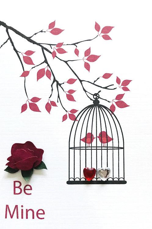 Valentine Be Mine Greeting Card- 1439