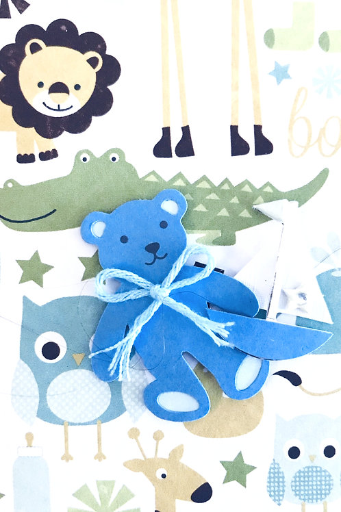 Blue Bear with Boat Gift Card - 117B/9