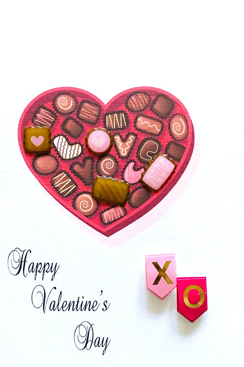 Valentines Candy XO Greeting Card - 1443
